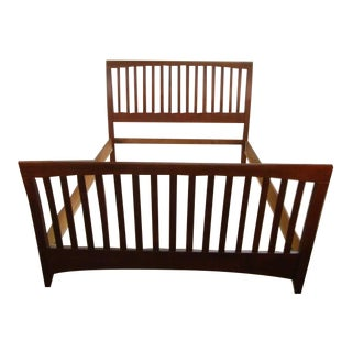 Traditional Kincaid Solid Cherry Queen Size Bedframe For Sale