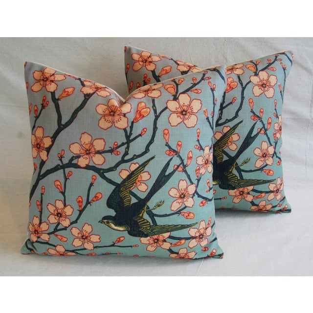 Magnolia Blossoms/Swallow Down & Feather Pillows - a Pair For Sale - Image 12 of 12