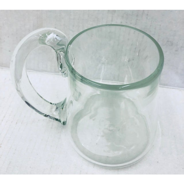 Handblown Glass Pitcher For Sale - Image 10 of 11