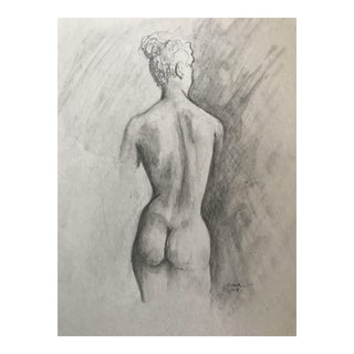 "Original Drawing ""Standing Nude"" by Christy Almond"