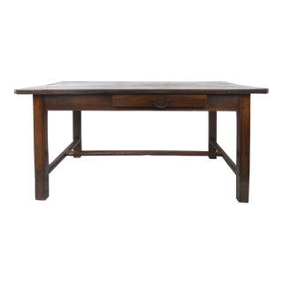 Rustic Antique Farm Work Table or Desk W/ Drawers For Sale