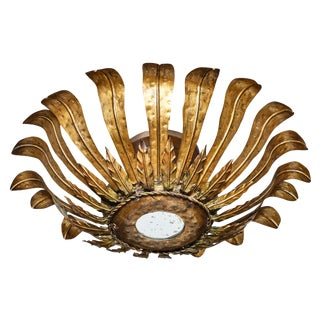 Spanish Gilded Tin Fixture For Sale