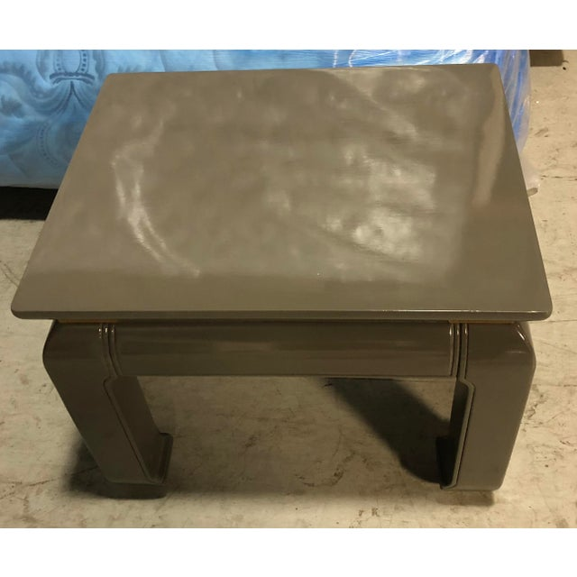 Gray Lacquered Ming Side Tables - A Pair For Sale - Image 4 of 5