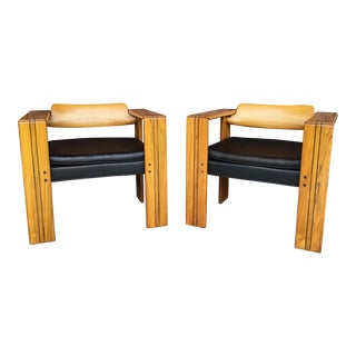 1970s Vintage Afra and Tobia Scarpa Artona Chairs - A Pair For Sale