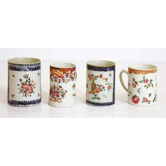 Asian Late 18th Early 19th Century Chinese Export Mugs / Tankards For Sale - Image 3 of 7