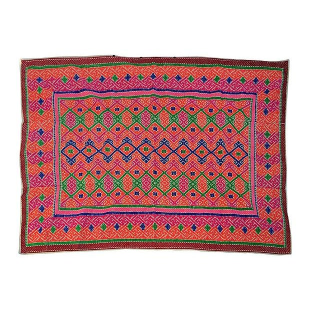 Hmong Tribal Marriage Quilt - Image 1 of 4