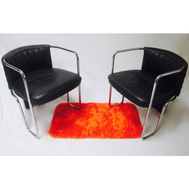 Poltrona Frau Leather Chairs- A Pair - Image 6 of 11