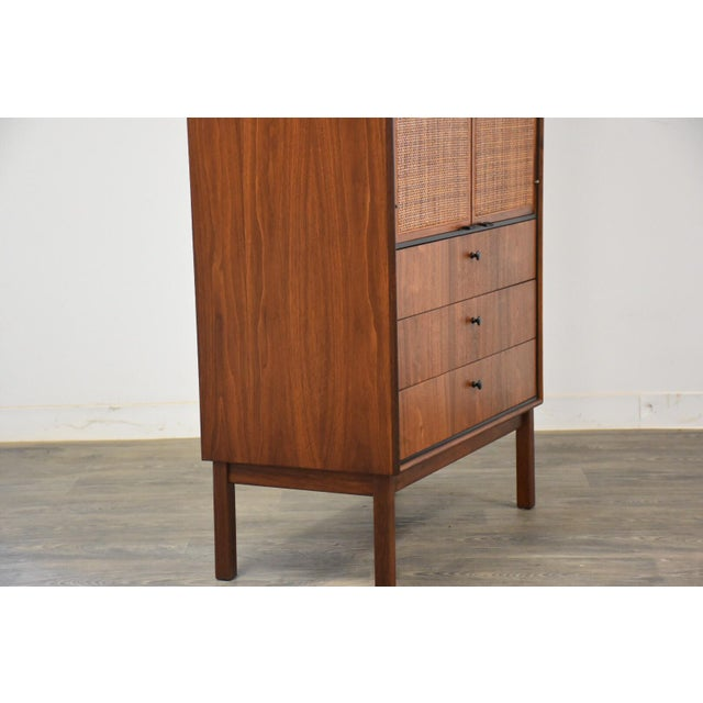1950s Jack Cartwright for Founders Walnut Armoire Dresser For Sale - Image 5 of 11