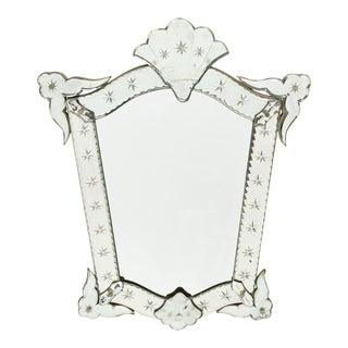 Petite Antique Venetian Mirror For Sale