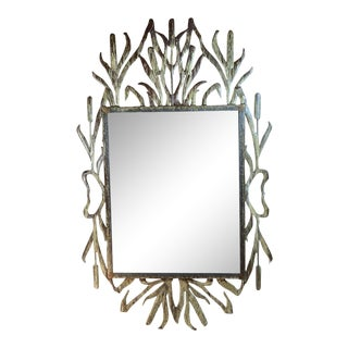 Cat Tail Iron Mirror For Sale