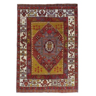 Yuntdag Rug with Cloudband Border For Sale