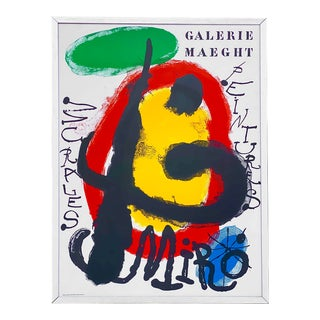 Joan Miro, 1893-1983 Galerie Maeght Lithograph Mid Century Modern Artwork For Sale