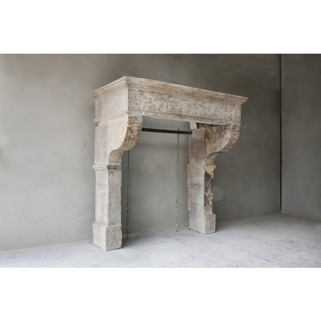 Big Robust Castle Firepace From the 19th Century, Campagnarde Style For Sale - Image 6 of 9