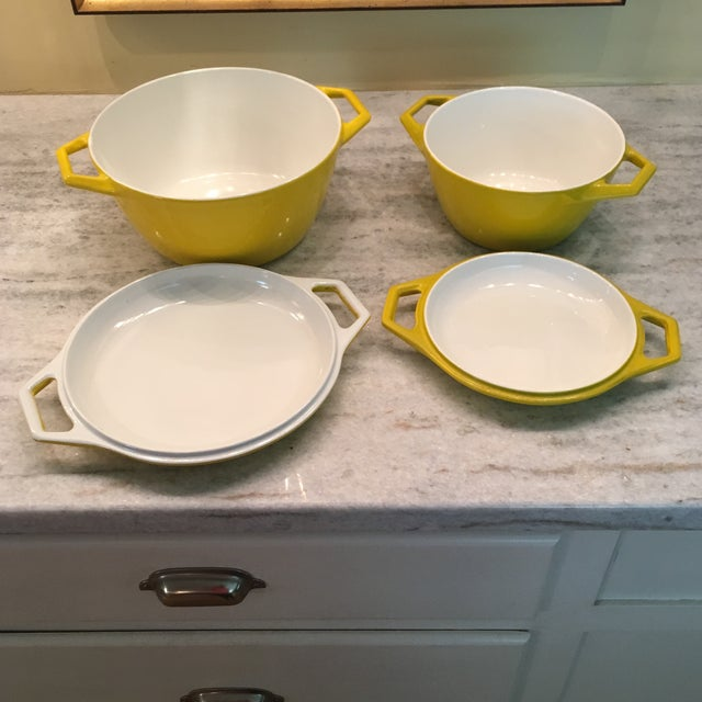 Michael Lax Yellow Danish Copco Enamelware by Michael Lax - A Pair For Sale - Image 4 of 12