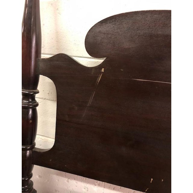1940s Vintage Mahogany Twin Bed Frame For Sale - Image 5 of 8