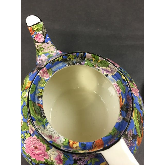 1920s Crown Ducal Ware Chintz Blue Teapot 1920 For Sale - Image 5 of 8