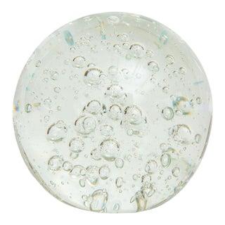 Murano Bullecante Glass Ball Vintage For Sale