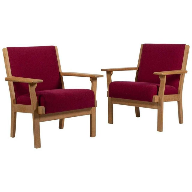 1960s Hans Wegner Style Getama Armchairs For Sale - Image 5 of 5