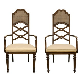 Lane Furniture Spanish Revival Dining Arm Chairs - a Pair For Sale