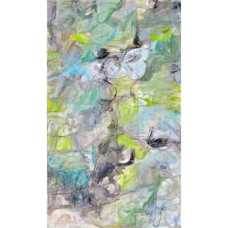 """Babbling Brook"" by Trixie Pitts Large Abstract Oil Painting For Sale"