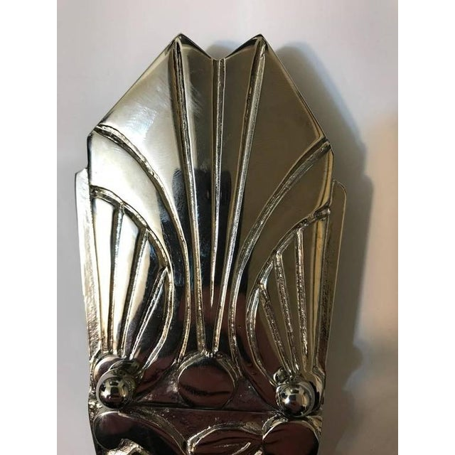 French Art Deco Sconces with Skyscraper Motif - A Pair - Image 5 of 10