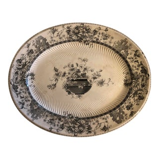 1900s English Transferware Platter For Sale