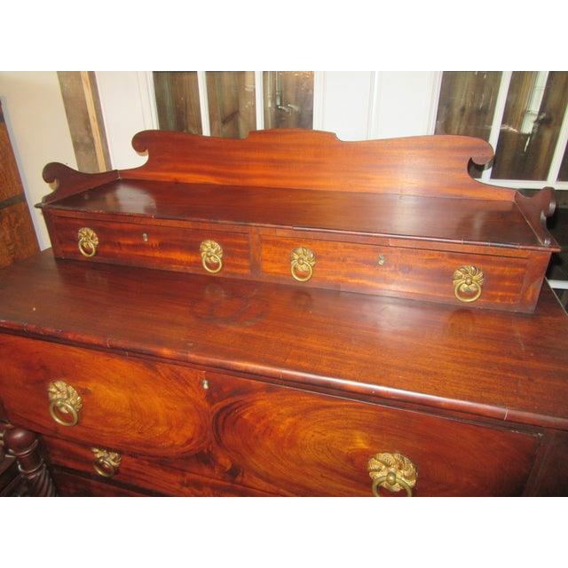 Antique Empire Paw Foot Crotch Mahogany Chest of Drawers For Sale In Boston - Image 6 of 13