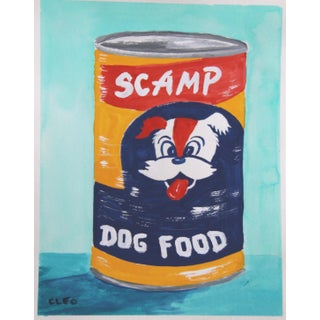 Vintage Dog Food Can a La Warhol by Cleo Plowden For Sale