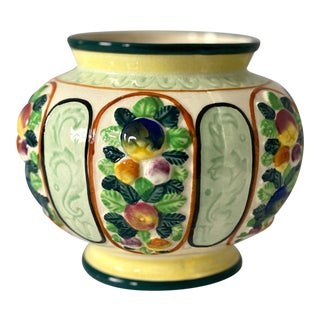 1930s Japanese Majolica Planter For Sale