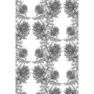 Modern Roll of Timorous Beasties Thistle Wallpaper For Sale