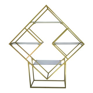 1970s Romeo Rega Style Geometric Etegare For Sale