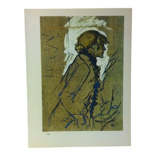 """Circa 1980 """"Female Figure 1893"""" Color Print of a Toulouse-Lautrec Drawing For Sale"""
