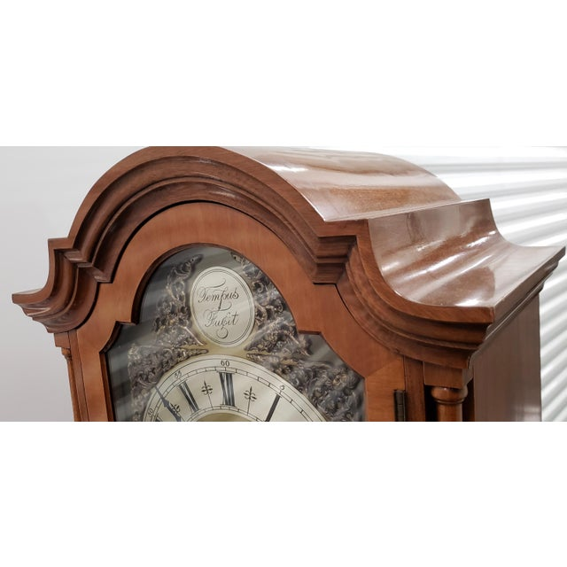 English Traditional Vintage Tall Case Clock by Elliott, England For Sale - Image 3 of 13