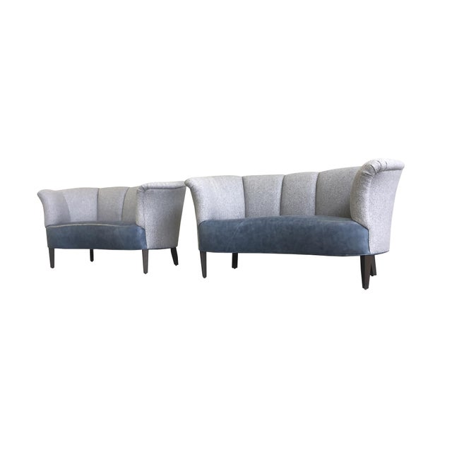 Slagelse Mobelvaerk Reupholstered Danish Channel-Back Settees - A Pair For Sale - Image 12 of 12