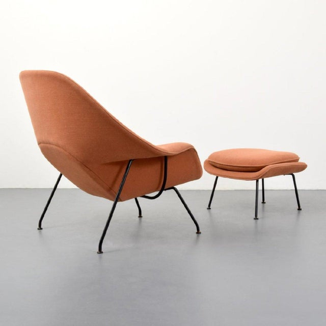 Textile Eero Saarinen Womb Lounge Chair and Ottoman, Usa, 1960s For Sale - Image 7 of 8