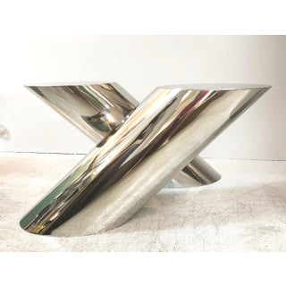 J. Wade Beam Zephyr Cantilevered Stainless Steel Side Table by Brueton Preview