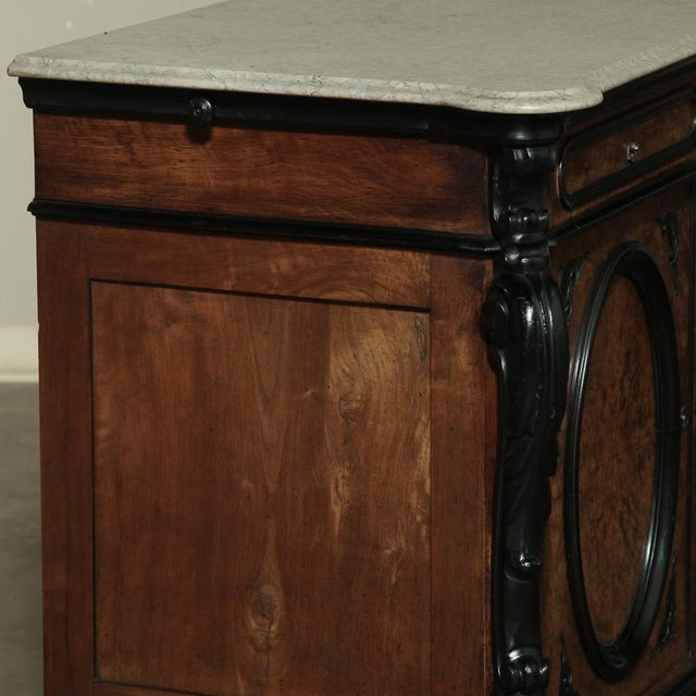 19th Century Biedermeier Marble Top Buffet For Sale - Image 10 of 13