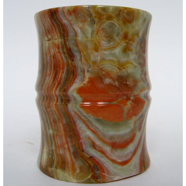 Carved Agate Pen Holder - Image 3 of 8