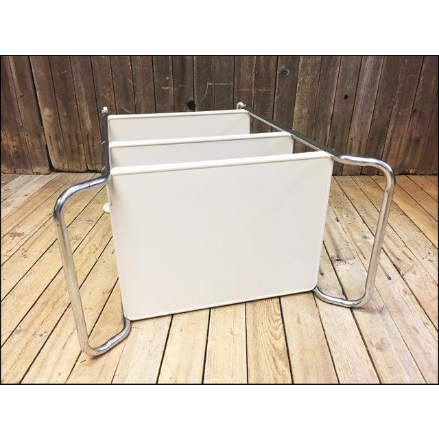 Mid Century Modern Beige Metal Cosco 3 Tier Cart - Image 11 of 11
