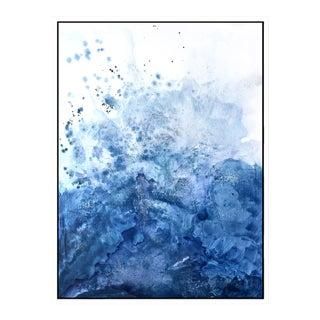 Blue Salt Watercolor Framed Giclée Print 30 X 40 For Sale