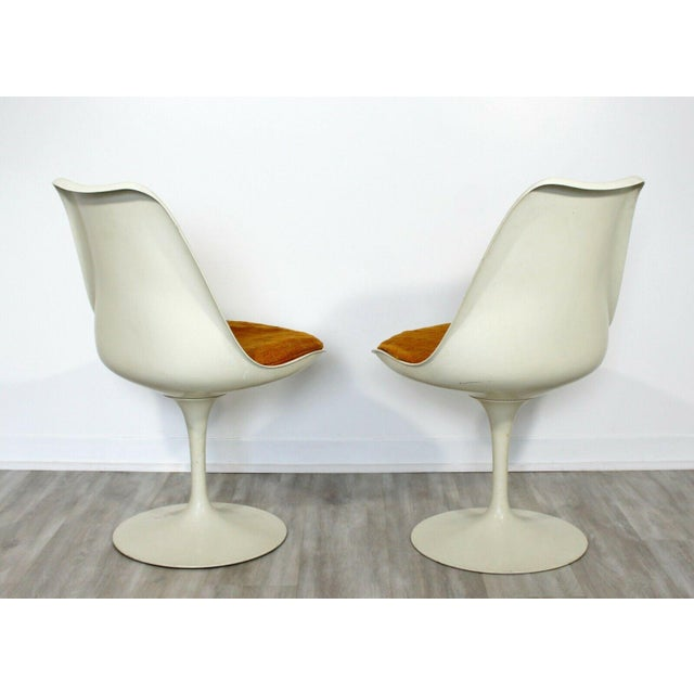 Mid Century Modern Eero Saarinen for Knoll Set 5 Tulip Side Dining Chairs 1960s For Sale - Image 9 of 10