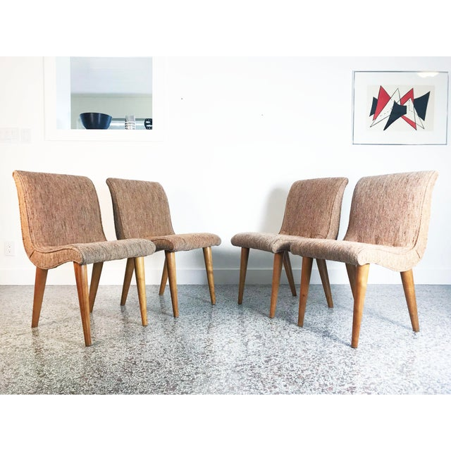 1950s Russel Wright Scoop Dining Chairs - Set of 4 For Sale - Image 5 of 13