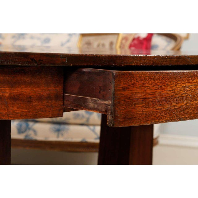 Empire Mahogany Pillar and Scroll Table With One Drawer For Sale - Image 4 of 9