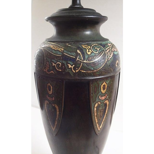 Vintage Cloisonne Lamps - Pair - Image 4 of 8