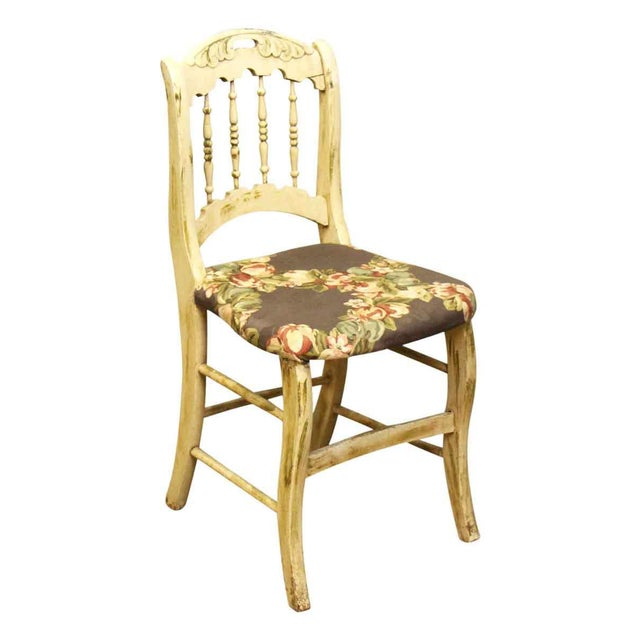 Pair of Wooden Chairs With Floral Seat - Image 6 of 10