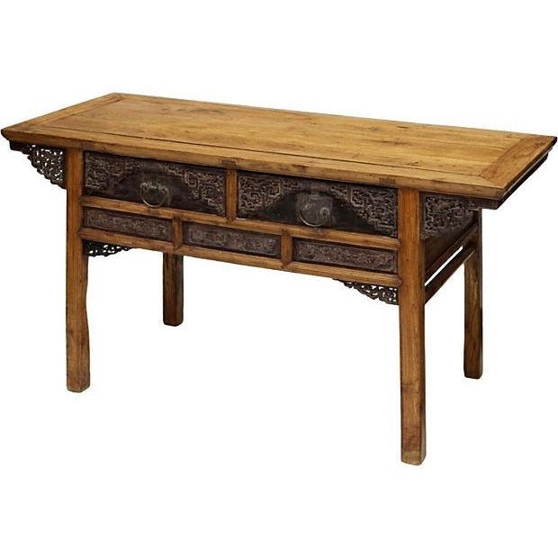 Chinese Elm Consle Table - Image 2 of 3