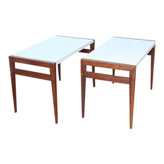Mid-Century John Keal for Brown Saltman Side Tables- A Pair For Sale