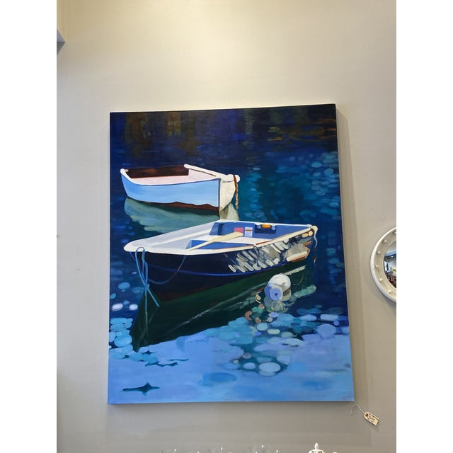 Canvas Contemporary Nautical Oil Painting by Andrea Guay For Sale - Image 7 of 7