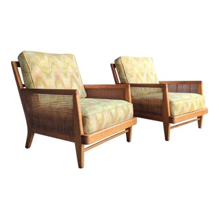 Paul McCobb-Style Carlo De Carli-Style Maple & Cane Lounge Chairs, a Pair For Sale