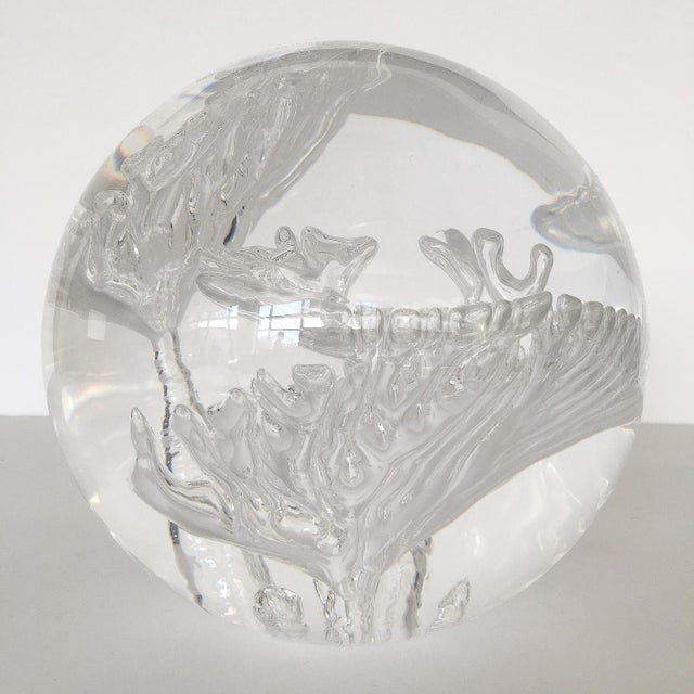 Suspended Bubble Inclusion Lucite Sphere Sculpture - Image 2 of 6